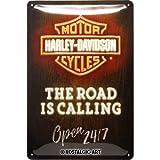 Nostalgic-Art Harley-Davidson – Road is Calling Neon –