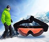 Amorar Skibrille Sport Outdoor Bergsteigen Snowboard Brille Schneebrille Anti-Fog UV-Schutz Schutzbrille für Damen und Herren Skifahren Motorrad Fahrrad Skaten Rosa