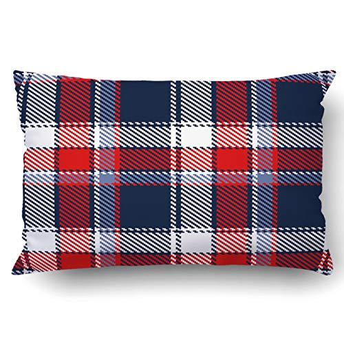 okstore1988 Funda de almohada decorativa para dormitorio, sofá, decoración del hogar, patrón a cuadros, 45,7 x 45,7 cm, a cuadros