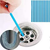 Holesalemart Drain Cleaner Stick Remove Bad Smell of Drain, Toilet Pipes, Bathtub, Kitchen Sink (Blue Color) (12 Sticks) (1 Stick for 1 Month)