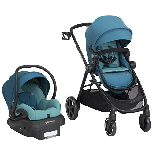 Maxi-Cosi Zelia 5-In-1 Modular Travel System, Emerald Tide, One Size
