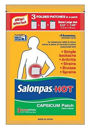 Salonpas-Hot Capsicum Patch 3 Count (Pack of 3)