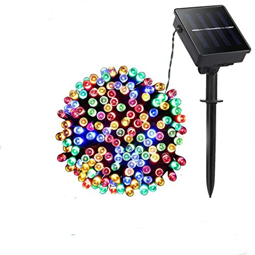 Solar Fairy Christmas String Lights, HighlifeS 50 LED Ambiance Lighting for Outdoor, Patio, Lawn, Landscape, Fairy Garden, Home, Wedding, Holiday Party and Xmas Tree (Multicolor)