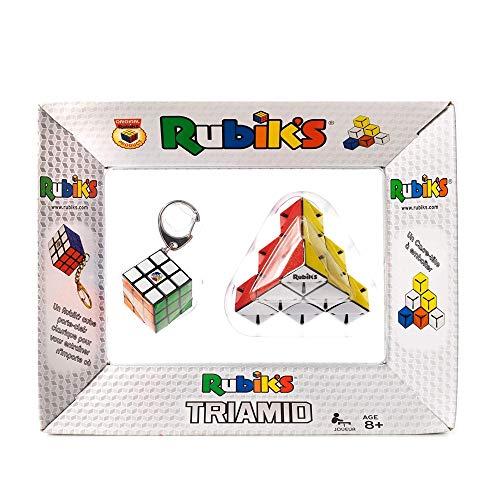 Rubik's - Pack Rubik's Triamid et Porte-Clefs 3X3