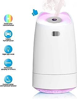 LoiStu USB Humidifier, 280ml Mini Portable Humidifier with 7-Color LED Night Light,..