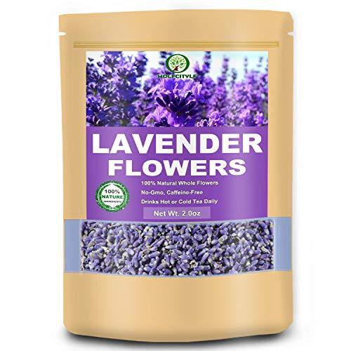 Premium Lavender Flower Tea, Grade 5A Lavender Buds, 100% Natural Flower Herb Tea (Lavender, 2.0 oz)