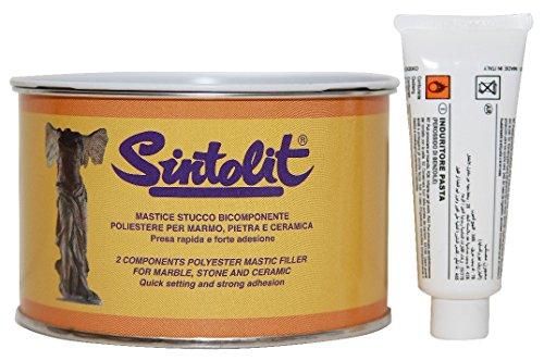 'Sintolit' Marmo/Ceramica Mastice-Stucco Solido Per Marmo. Bicomponente Poliestere, Adatto...