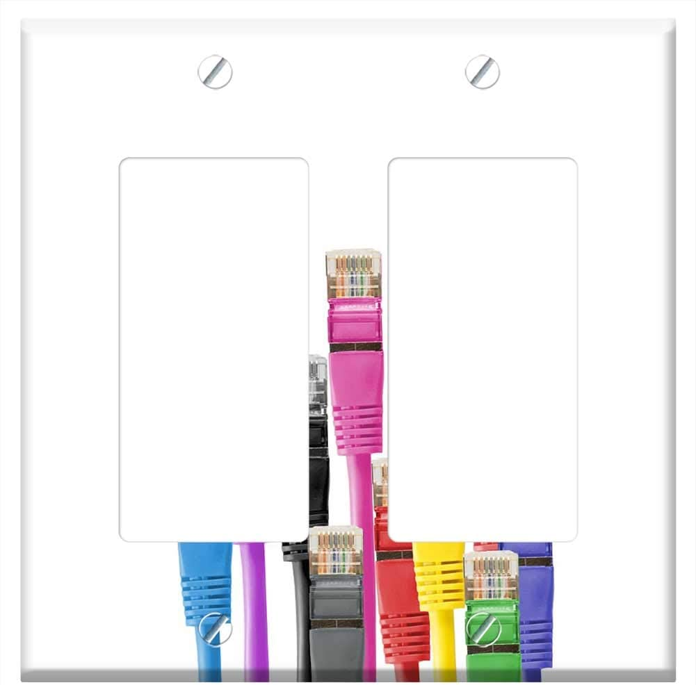 Switch Plate Double Rocker GFCI - Cables Online limited product Cable Patch Pat Network Luxury