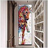 Leinwand Malerei Große Größe Kunst Poster Pferd Bild