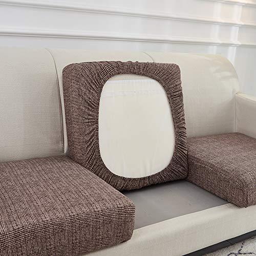 Elegante e bella Spandex Stretch Sofa Seat Cushion Cover Sedia Copertura Pedica Animali domestici per bambini Protezione per mobili per bambini Protezione lavabile Rimovibile Slipcover 1/2/3/4 Sedile