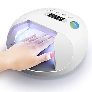 ZHTY Secador de uñas inalámbrico Inteligente automático sin Dolor 48 W máquina de fototerapia de uñas de Secado rápido lámpara led secador de lámpara de uñas para Hacer Esmalte de uñas Hornear