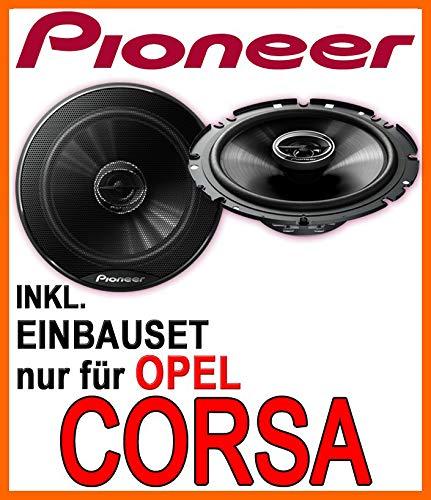 Lautsprecher - Pioneer TS-G1720F - 16cm 2-Wege 300 Watt Koax Einbauset für Opel Corsa B, C, D - JUST SOUND best choice for caraudio