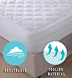 Lux Decor Quilted Fitted Mattress Pad - Stretch-to-Fit Mattress Cover - Stretches up to 16 Inches Deep - Mattress Topper (1, Queen) mattress toppers Dec, 2020