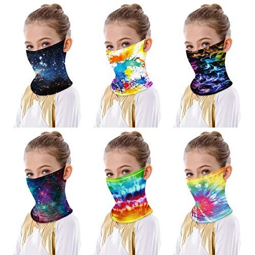 IBTOM CASTLE Junge Mädchen Multifunktionstuch Nahtloses Halstuch Atmungsaktiv Sonnenschutz Bandana Stirnband Kopftuc Schlauchtuch Laufschal für Radfahren Klettern Motorrad Pigment 7-10 Jahre