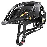 uvex Quatro CC MIPS Casco de Bicicleta, Unisex-Adult, All Black, 52-57 cm
