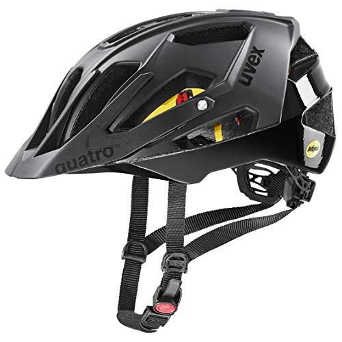 uvex Unisex– Erwachsene Quatro cc MIPS Fahrradhelm, all black, 56-61 cm