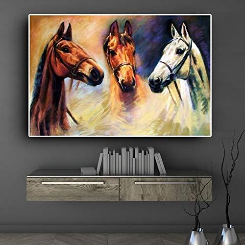 Geiqianjiumai Moderne Leinwand Malerei Tier Poster und Drucke abstrakte Ma Yiaihu Home Leinwand Malerei rahmenlose Malerei 30x40cm