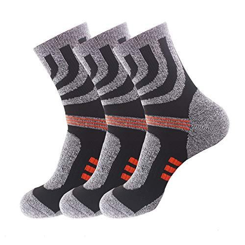 SOFIT Socken Für Damen & Herren (3 Paar), Atmungsaktiv, Dauerhaftes Antibakterielles Deodorant, Crew Socken, Fußball Socken, Hohe Sportsocken 39-44 EUR