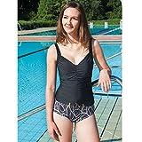 Suprima Damen Badeanzug Kombi-Set mit Sicherheitsslip 52
