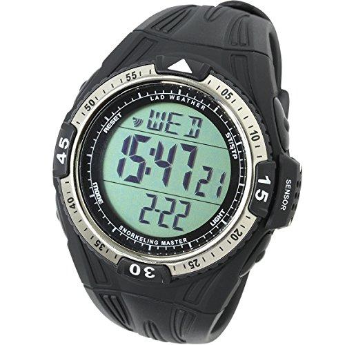 LAD WEATHER Reloj Buceo Medición de Profundidad Temperatura de Agua Cronómetro Esnórquel Snorkel Buceo Deportes al Aire Libre