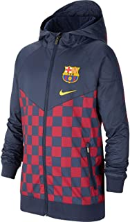 Nike 2019-20 FC Barcelona Youth Windrunner Jacket - Blue-Red YXL