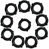 Garden Hose Washers Pack of 10. Made from Heavy Duty Rubber. Self Locking Tabs Keep Washer Firmly Set Inside Fittings