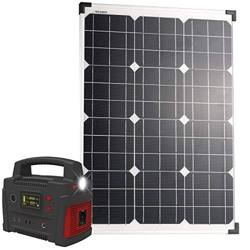 reVolt Solarmodule: Powerbank & Solar-Konverter mit 50-Watt-Solarpanel, 114 Ah, bis 600 W (Strom-Powerbank)