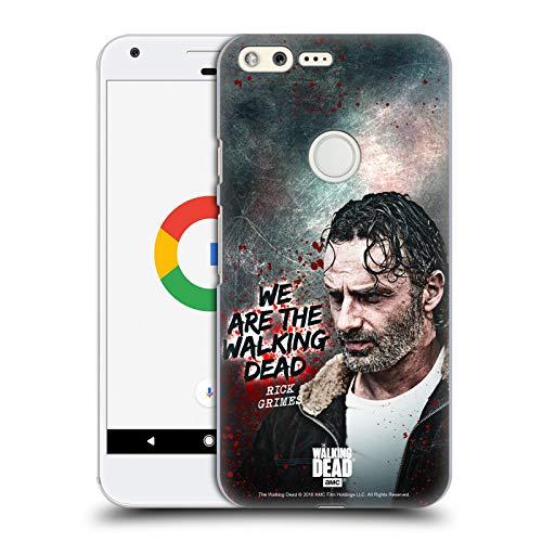 Head Case Designs Licenciado Oficialmente AMC The Walking Dead Cita Legado de Rick Grimes Carcasa rígida Compatible con Google Pixel