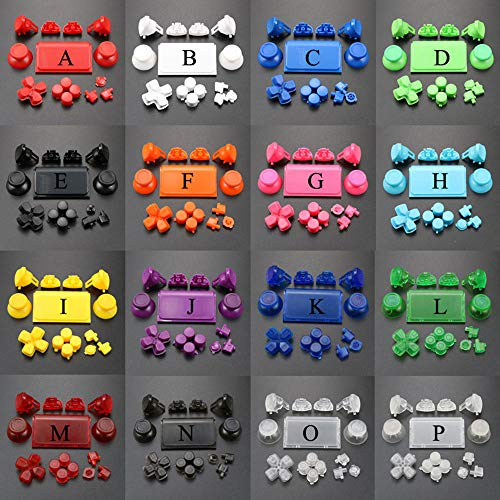 Buttons Full Set for PS4 Pro Joysticks Dpad R1 L1 R2 L2 Direction Key ABXY Buttons JDS 040 JDS-040 for Sony Playstion 4 Pro Controller (Orange)