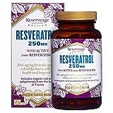 Reserveage Nutrition Resveratrol 250mg (Certified Organic, 120 Vegetarian Capsules)