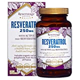 Reserveage, Resveratrol 250 mg, Antioxidant Supplement for Heart and Cellular Health, Supports Healthy Aging, Paleo, Keto, 120 capsules (120 servings)