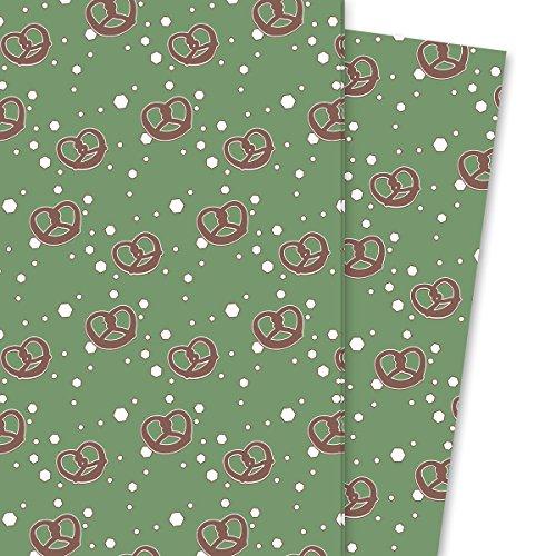 Heerlijk cadeau voor mannen, met planken, ook voor Kerstmis, groen (4 vellen, 32 x 48 cm) decoratiepapier, inpakken papier, voor leuke cadeauverpakking en verrassingen.