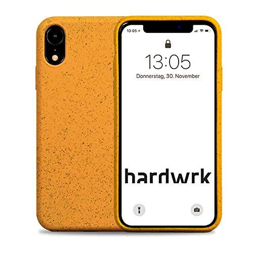 hardwrk Premium Eco Case - kompatibel mit Apple iPhone XR - gelb - Nachhaltige, kompostierbare, biologisch abbaubare Schutzhülle Handyhülle Cover Hülle - Qi kabellos Laden