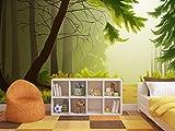Oedim Fotomural Vinilo para Pared Infantil Bosque   Fotomural para Paredes   Mural   Vinilo Decorativo   200 x 150 cm   Decoración comedores, Salones, Habitaciones