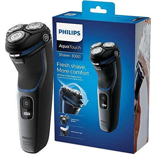 Barbeador elétrico seco ou molhado Shaver 3100, 1 velocidade, Preto Brilhante, Bivolt- Philips
