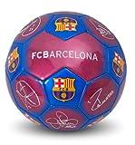 Ballon de football officiel du FC Barcelone, couleur argentée, avec autographes et écusson (taille 5) 5 Signature