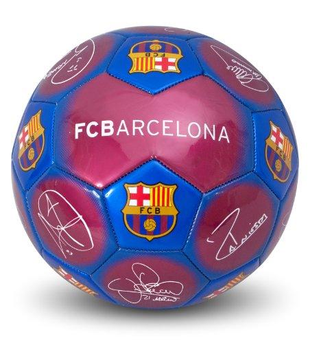 Offizieller FC Barcelona-Fußball mit Autogrammen und Wappen, (Größe 5) 5 Signature