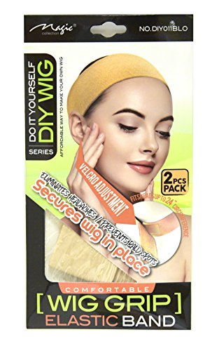 Magic Collection Comfortable Blonde Wig Grip Elastic Band Fits Heads Up To 24'' Circumference 2 pieces Blonde