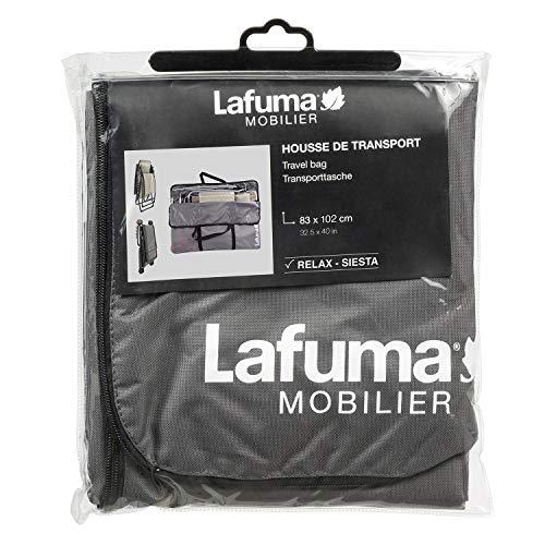 Lafuma Housse de transport pour fauteuil relax et lit de soleil Siesta L, Couleur: Anthracite, LFM2671-0006