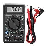 Rosvola Mini multímetro Digital, Pantalla LCD DT830D Multímetros Digitales Voltímetro Amperímetro Ohmímetro Instrumento de Prueba