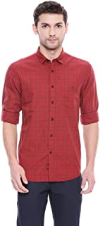 Louis Philippe Jeans Mens Checked Casual Shirt