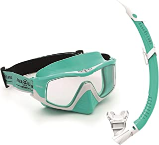 VERSA COMBO(マスク+スノーケルセット) Turquoise/White CLEAR LENS195170