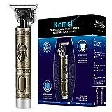 KEMEI Cortapelos para Hombres Recortadora de peluquería Profesional Cuchilla en T Recargable USB...