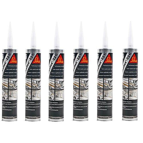 6x Sikaflex 221 weiß 300 ml dauerelastisch, überlackierbar, breites Haftspektrum für Wohnwagen und Wohnmobil