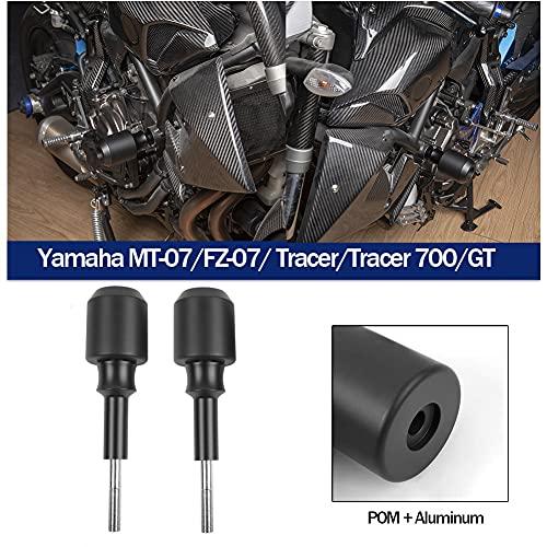 Marco de motocicleta Slider Engine Guard Crash Pad Carenado Protector de caída para Yamaha MT FZ 07 MT07 FZ07 FZ-07 MT-07 Tracer 700 GT Accesorios 2013 2014 2015 2016 2017 2018 2019 2020 2021 (Tipo 2)