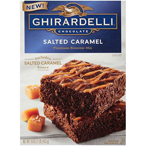 Ghirardelli Salted Caramel Brownie Mix, 16 Oz