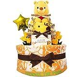KanonBabys おむつケーキ 男の子 女の子 プーさん 出産祝い 2段 Sサイズ 2001