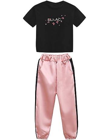 Mxssi Bambino Stampare Tute Sportiva A Manica Corta Due Pezzi Tute Felpa T-Shirt e Pantaloni Set Estate 80cm-120cm