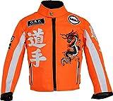 Veste de Moto pour Enfants en différentes Couleurs (Orange Fluo, L)