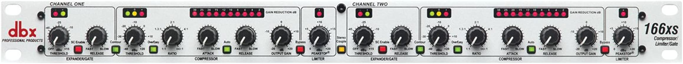 dbx 166xs Professional Audio Compressor/Limiter/Gate Dynamic Processor